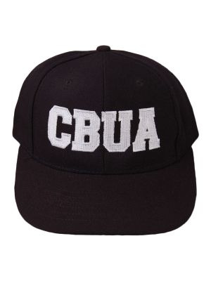 CBUA BLACK 6-stitch Short Base Hat