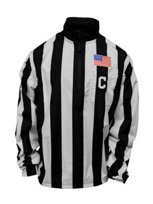 """Honig's 2"""" Striped Collegiate Waterproof Pullover Jacket With Placket"""