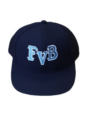 FVB Navy Softball 6-stitch Hat with blue and white lettering