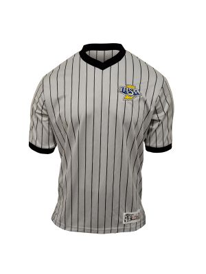 IHSAA Grey Pin Stripe V-Neck Shirt