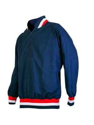 CLOSEOUT - Pullover Jacket - Red/White/Navy Trim