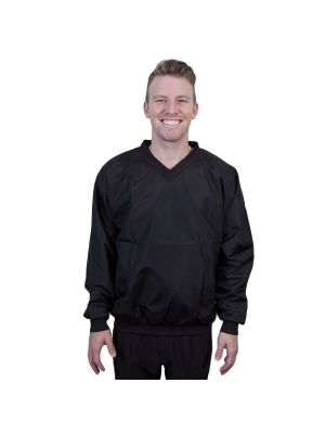 V-Neck Pullover Jacket- Black