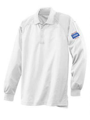 KSHSAA Long Sleeve Volleyball Polo - White