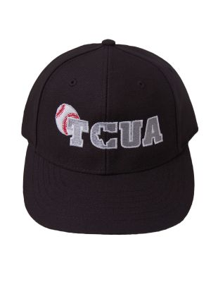 Texas Collegiate Umpire Assn 6 Stitch Black Hat