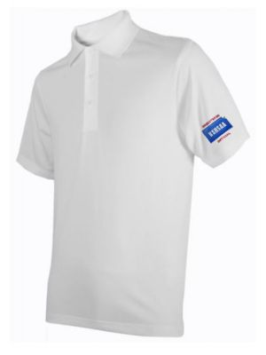Kansas SHS Ath Assn Men's Perf Polo - White